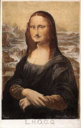 Mona Lisa with a moustache