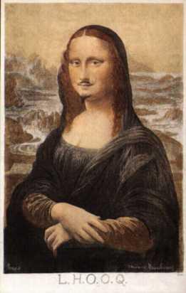 Mona Lisa with a moustache