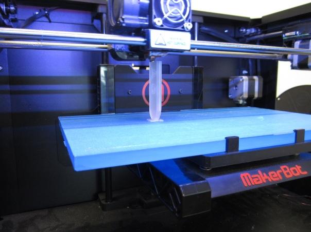 Printer finishes off the 3D token holder