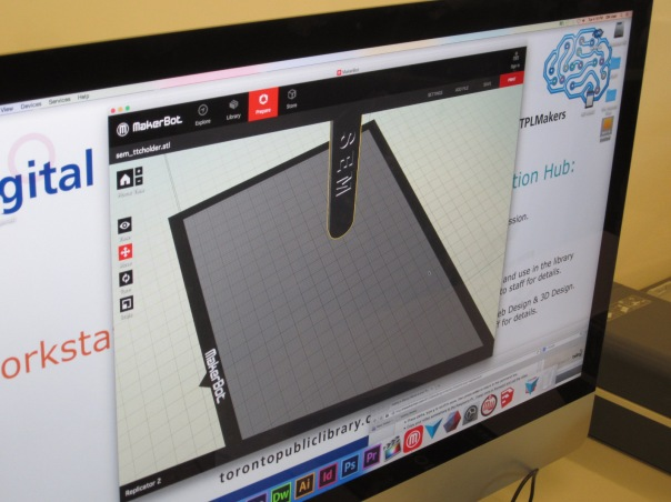 MakerBot 3D printer software to position 3D objects
